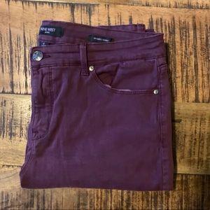 Nine West maroon jeans